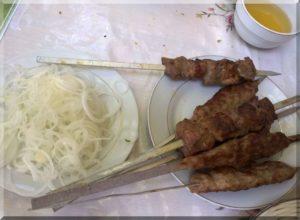 Üzbég bárány saslik