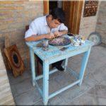 Üzbég kézművesek