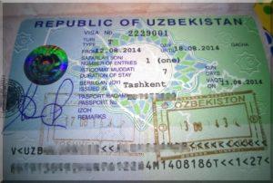 Üzbég vízum