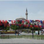 Sultanahmet megállónál már ezek a képek fogadtak minket