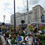 Moszkva város ünnepe, utcai árusok