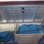 Az alsó ágy alatti csomagtér