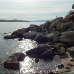 Ebben a kis öbölben megkóstoltuk a Bajkál vizét
