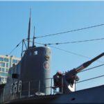 A központban lévő tengeralattjáró múzeum