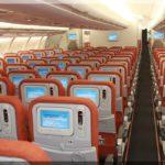 A gépünk Airbus A330 kívül-belül és a felszolgált étel