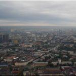 Panoráma az Osztankinói tévétorony tetejéről