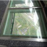 A kilátóterem és az üvegpadló
