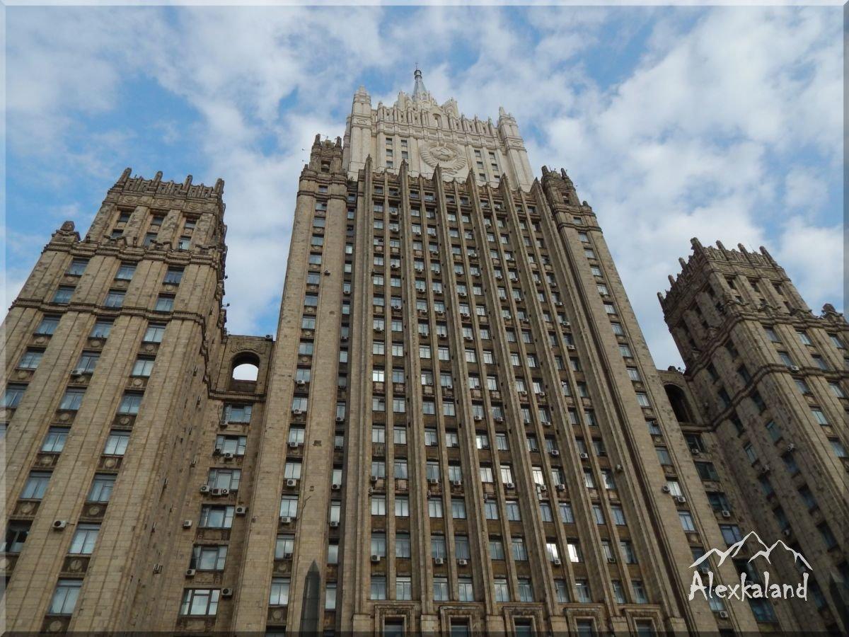 Külügyminisztérium épülete. Sztálin egyik épülete
