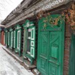 Omszk régi faházai