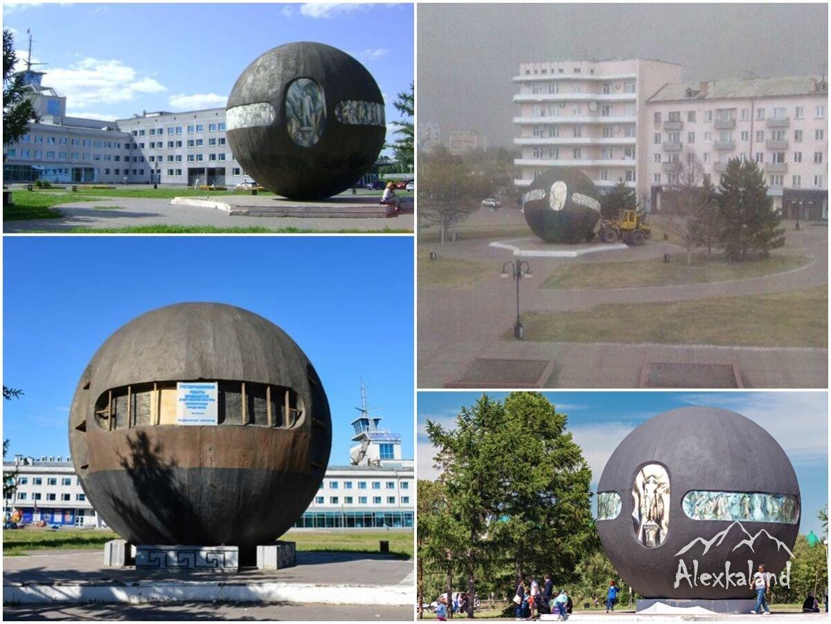 """""""Buchholz gömbje"""" emlékmű. Az első omszki erőd akkori helyén áll"""