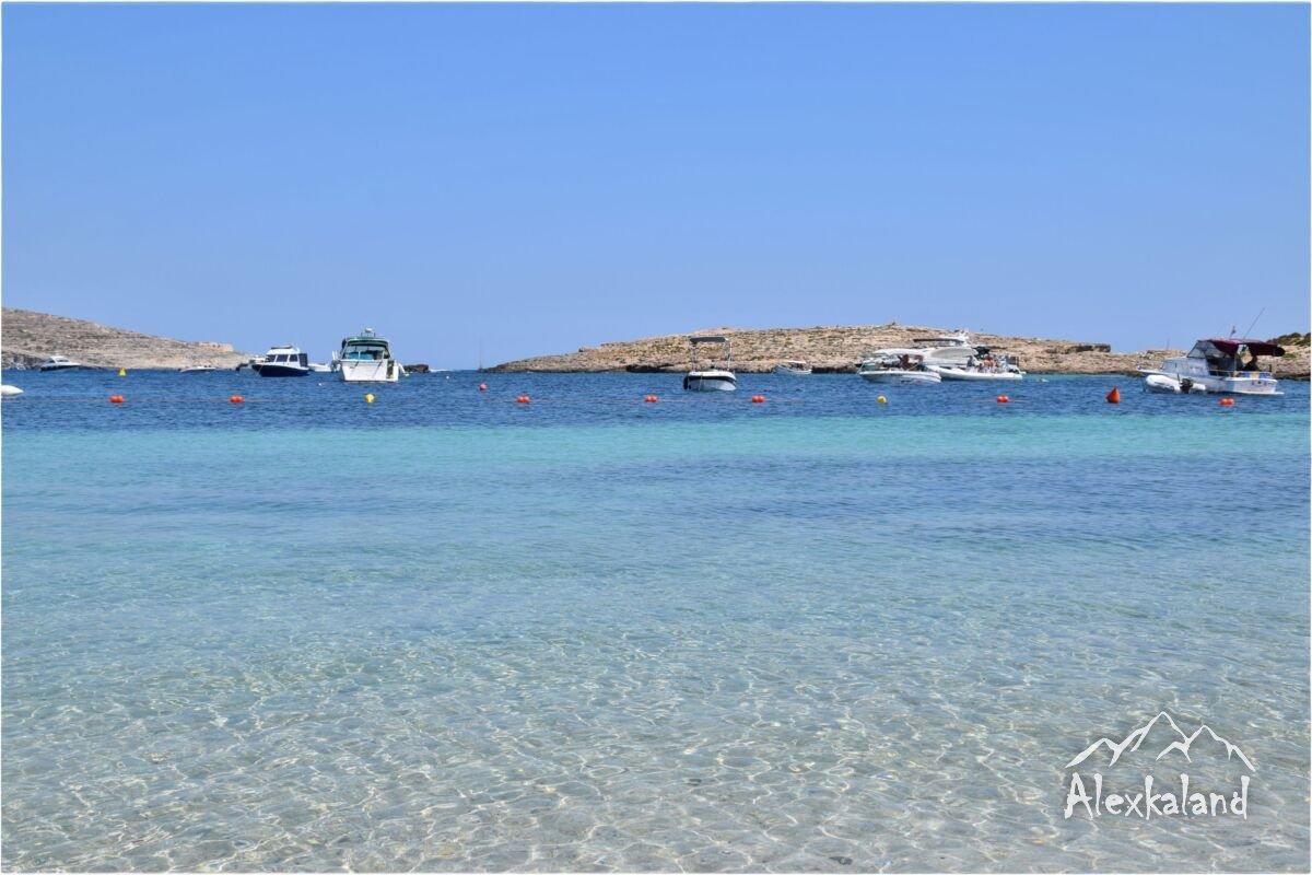 Santa Maria Bay strand Comino szigeten