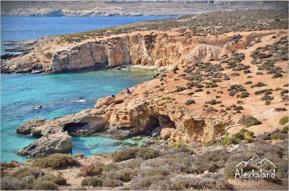 Az apró Comino nevű sziget