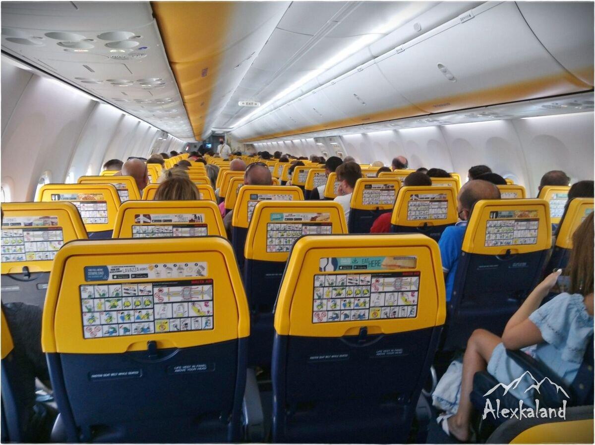 A majdnem teljesen utasokkal feltöltött gép