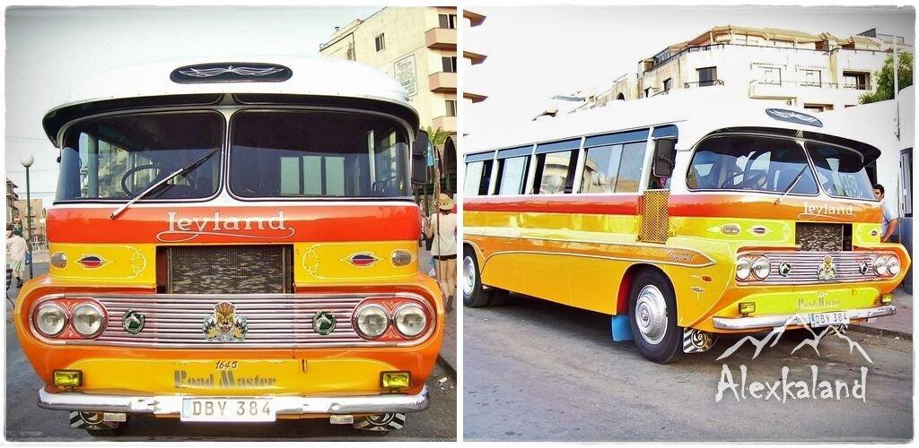 Málta régi buszainak az egyike
